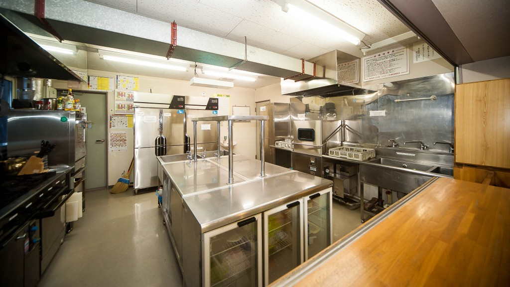 Self catering guest kitchen - Red Warehouse Myoko accommodation